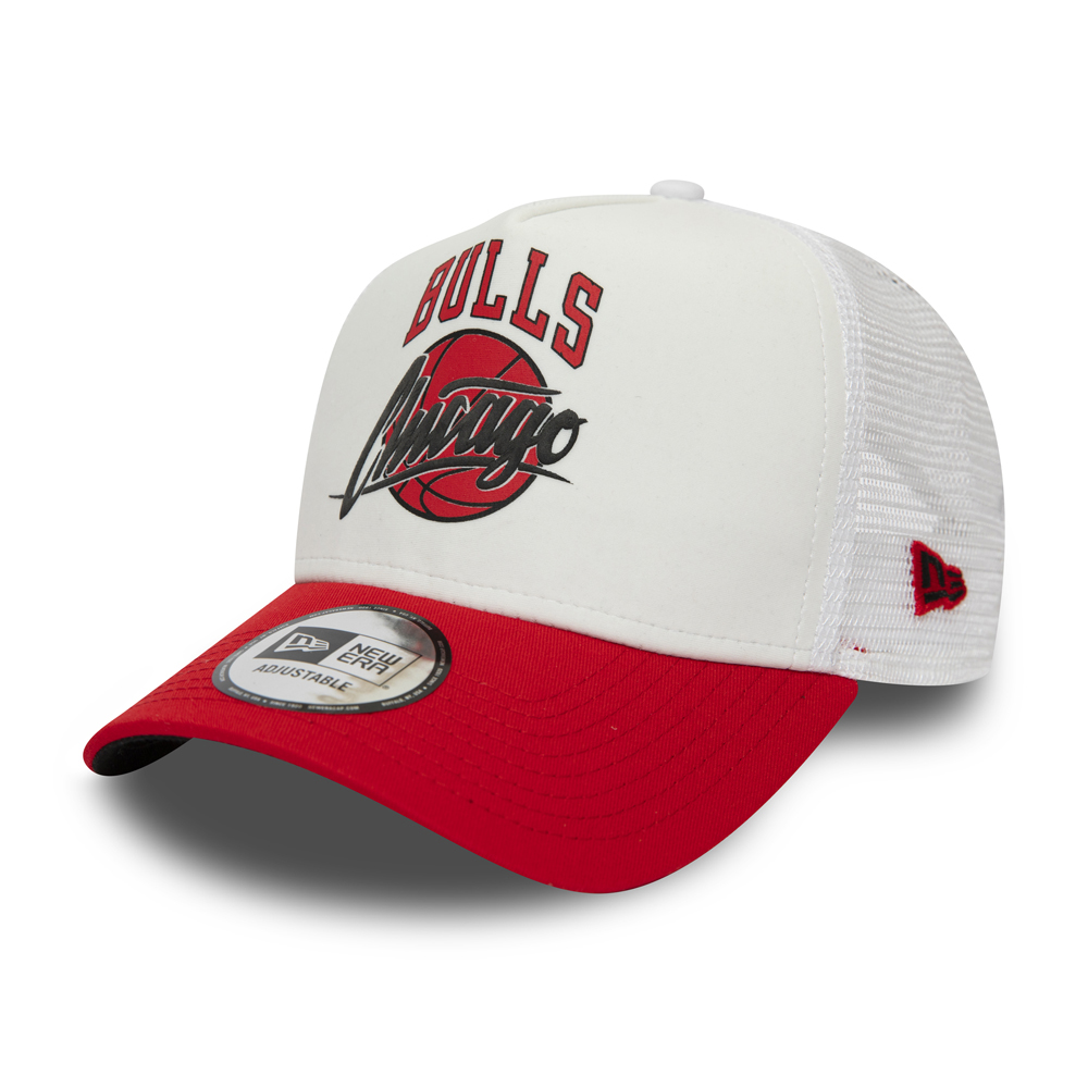 dd46bb0e69e Chicago Bulls Essential White A Frame Trucker