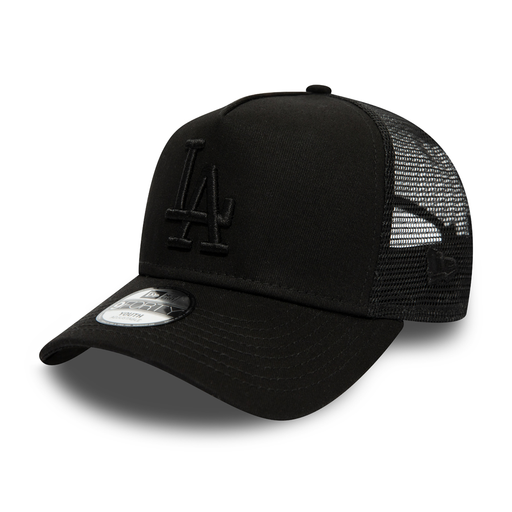 Los Angeles Dodgers Kids Essential Black A Frame Trucker
