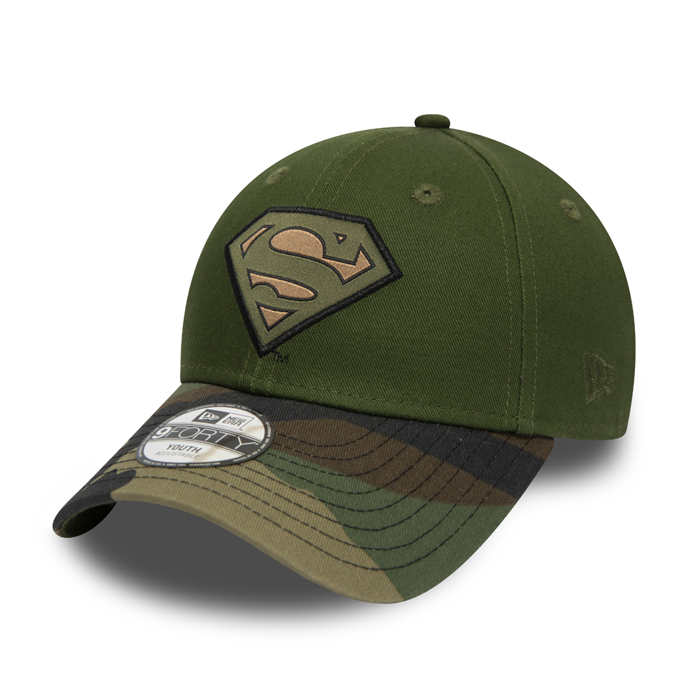 Superman Kids Woven Patch Woodland Camo 9FORTY