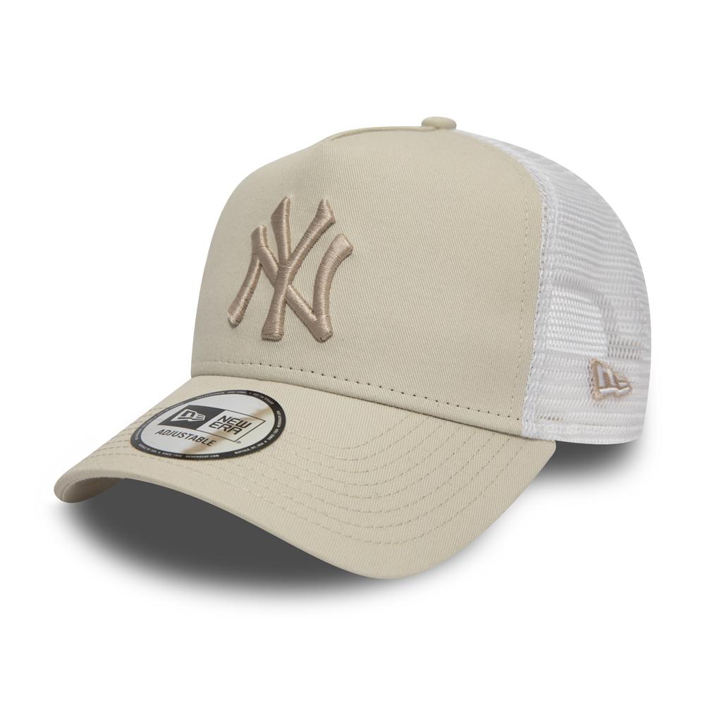 Gorra trucker New York Yankees Essential A Frame, piedra