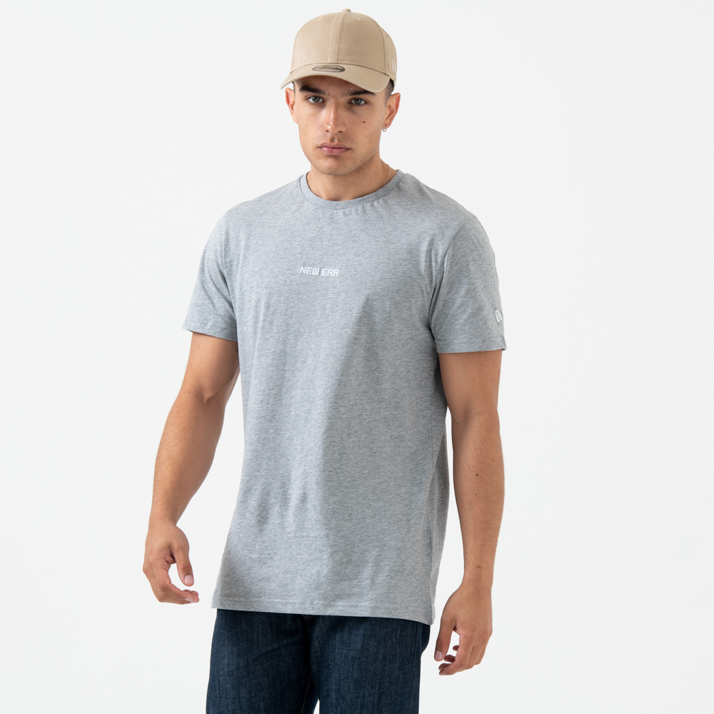 Camiseta New Era Essential, gris heather