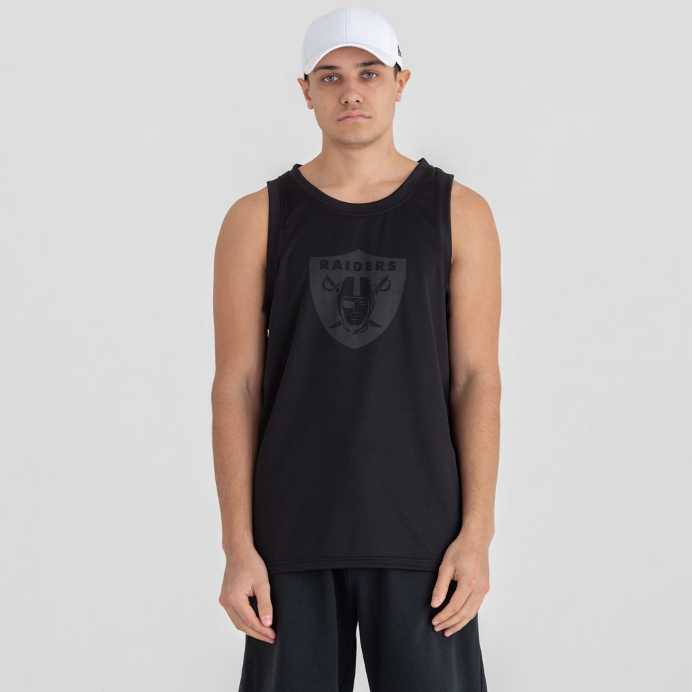 Oakland Raiders Tonal Logo Black Tank