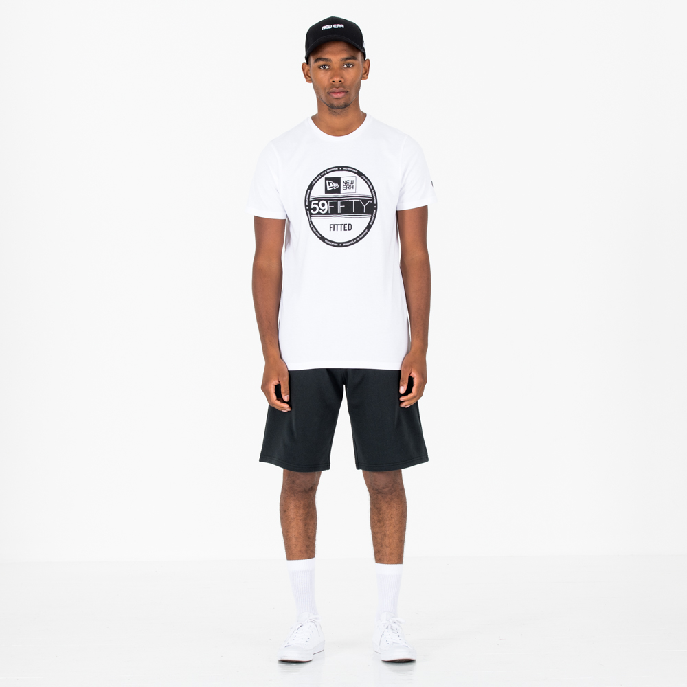 Camiseta New Era Essential Visor Sticker, blanco