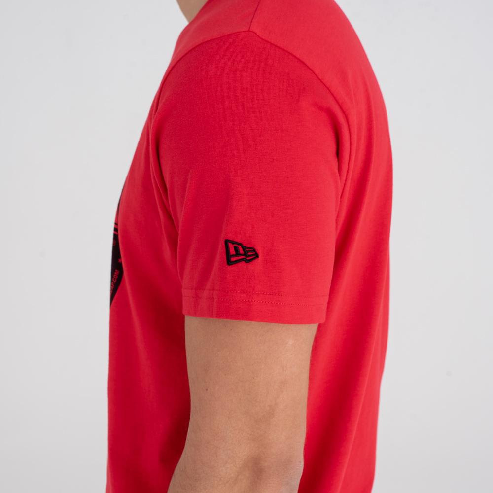 Camiseta New Era Essential Visor Sticker, rojo