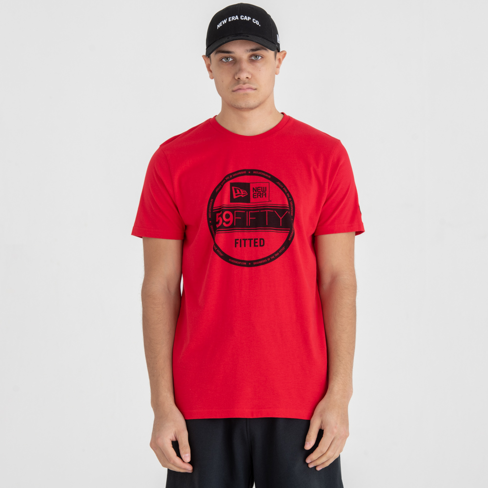 T-shirt New Era Essential Visor Sticker Red