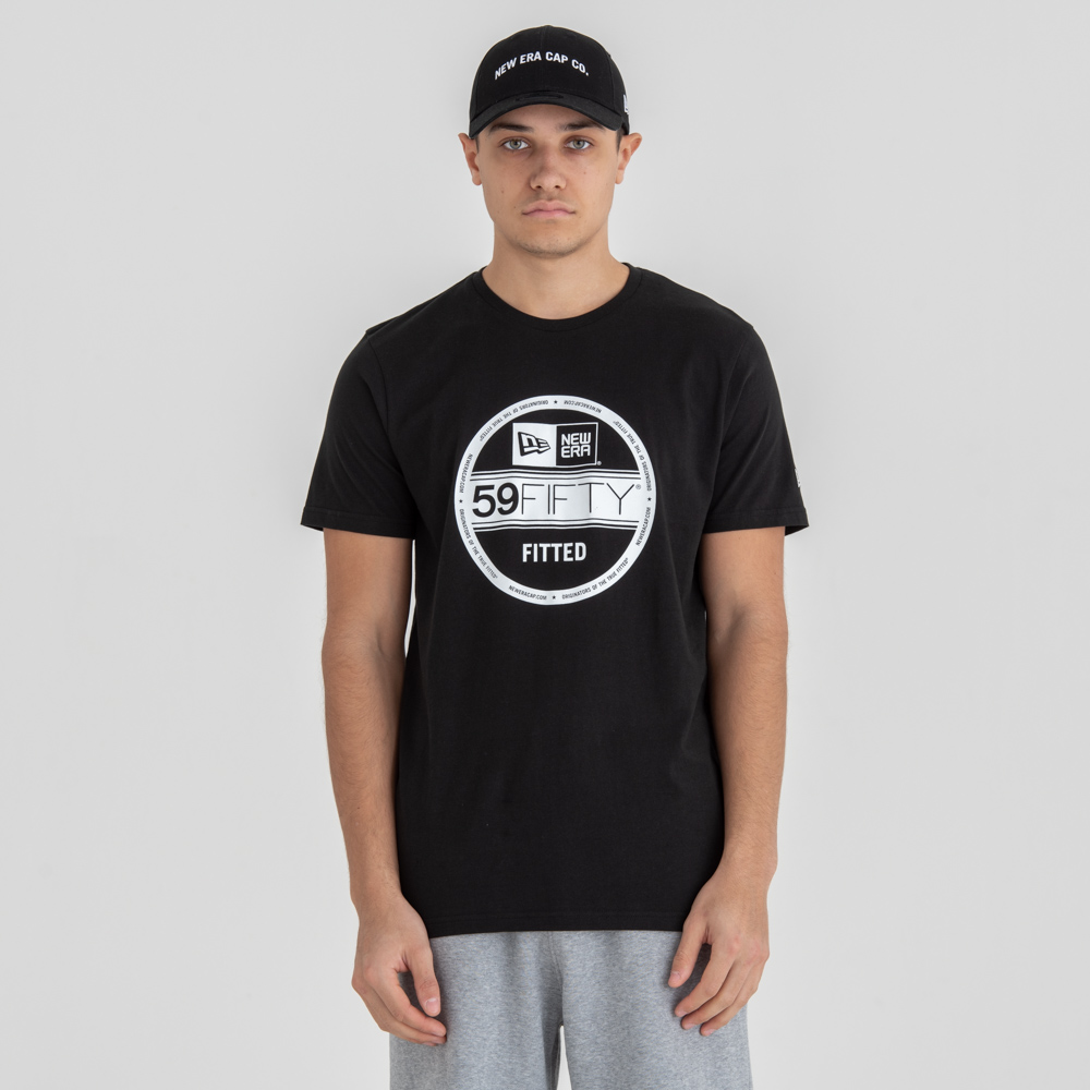 Camiseta New Era Essential Visor Sticker, negro