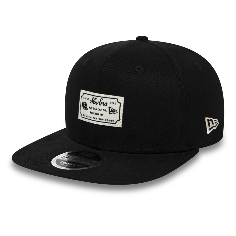 New Era Script Patch 9FIFTY Snapback nero