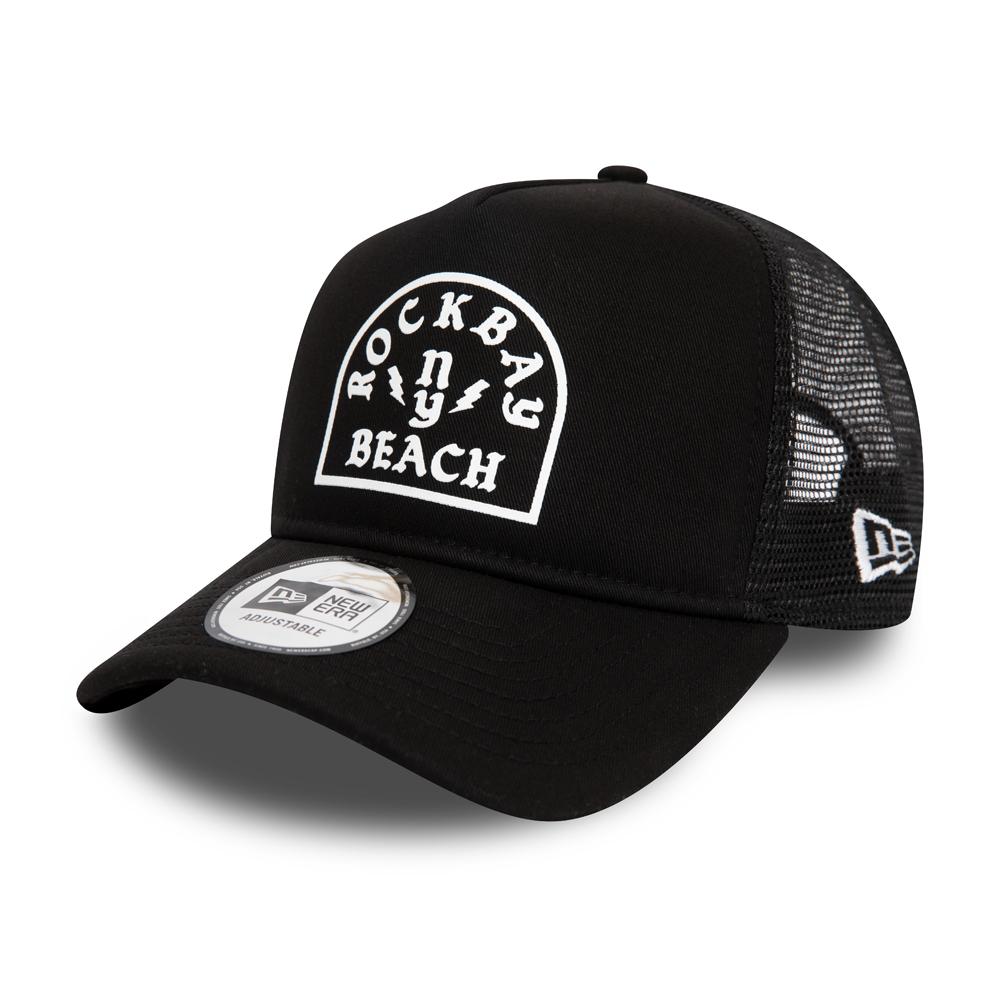 New Era Rock Bay Beach Black A Frame Trucker