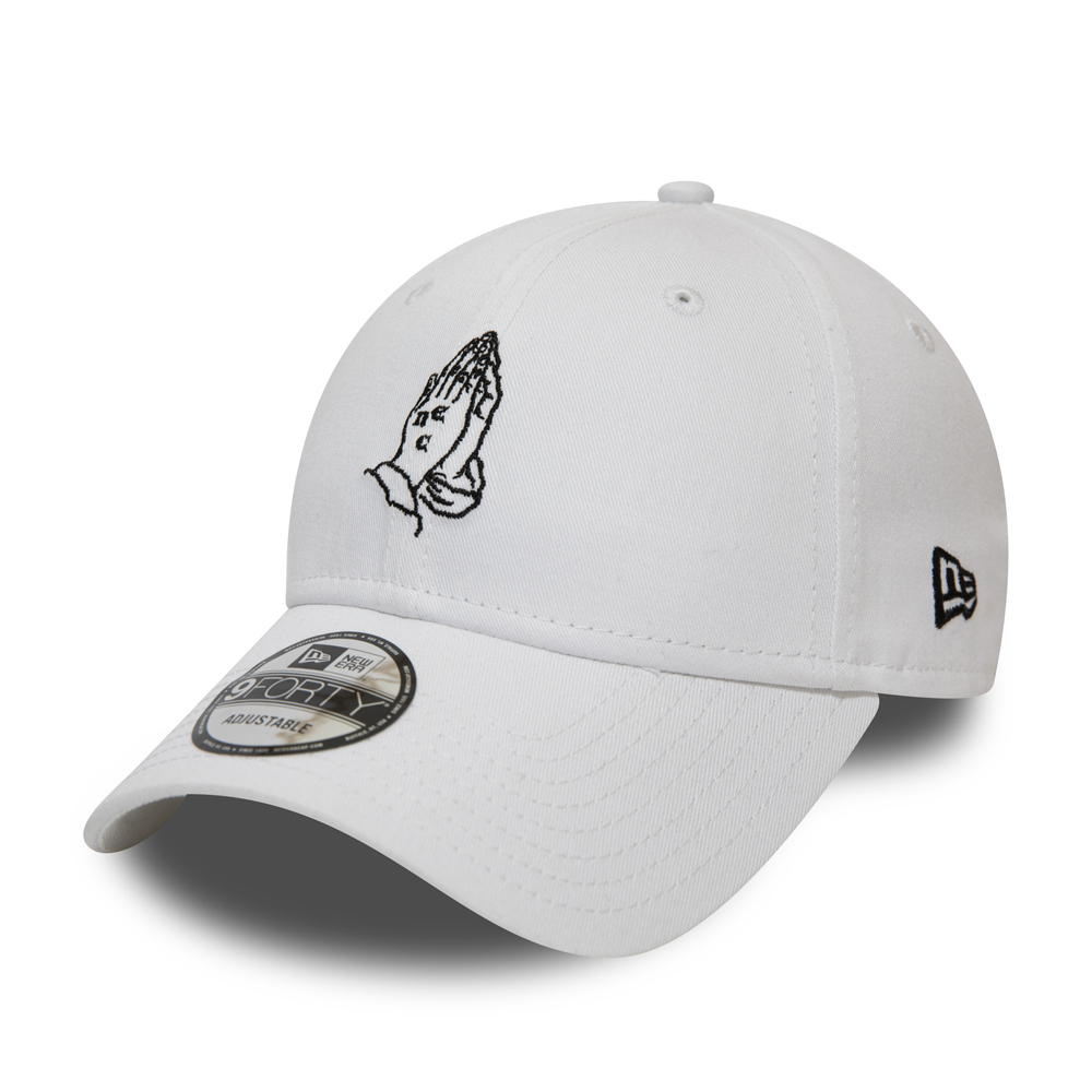 New Era Script White 9FORTY
