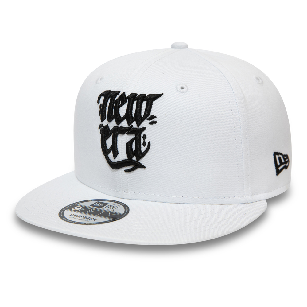 New Era Script White 9FIFTY Snapback