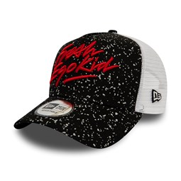 Gorra trucker New Era Fresh Ego Kid A Frame, negro