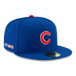 085415059c3 New. Chicago Cubs MLB 150th Anniversary On Field 59FIFTY