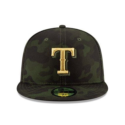 Texas Rangers Armed Forces Day On Field 59FIFTY