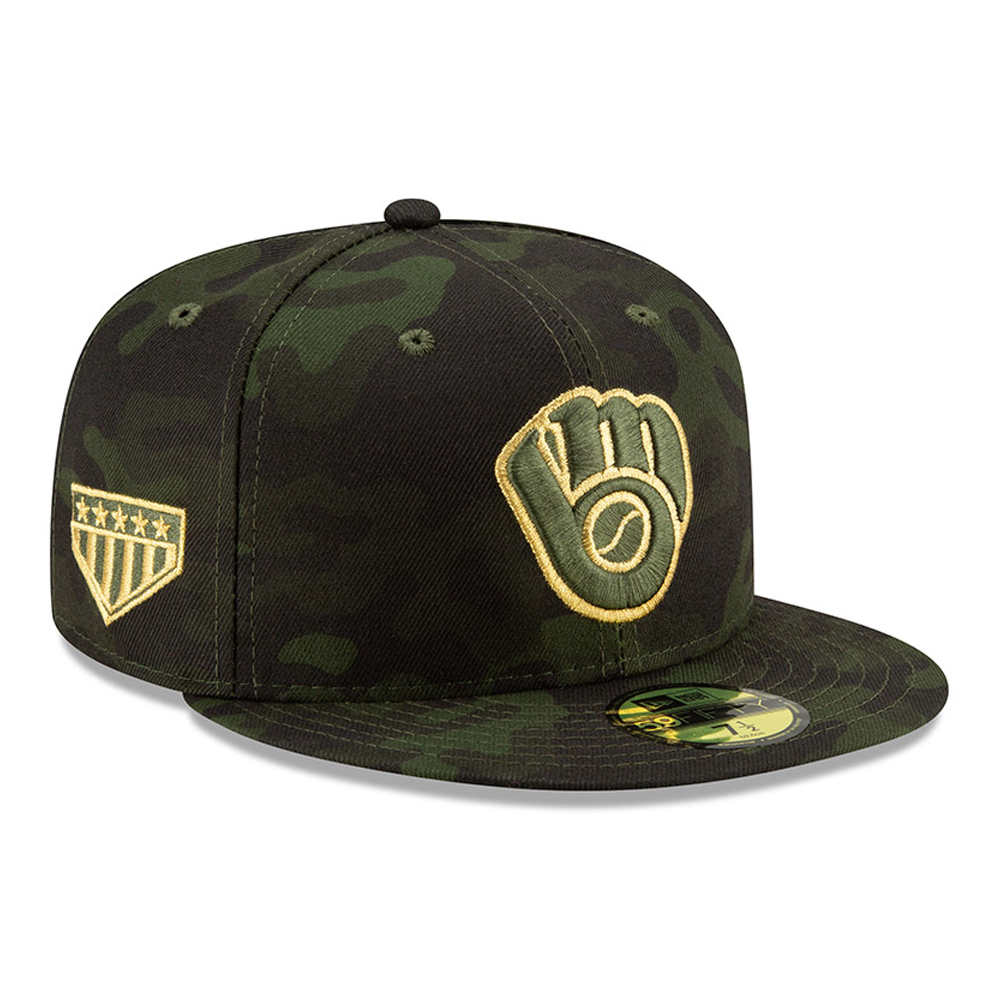Milwaukee Brewers Armed Forces Day 59FIFTY On Field