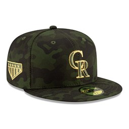 9dd310dcbdad94 Colorado Rockies Armed Forces Day On Field 59FIFTY