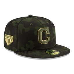 779f7438932 New. Cleveland Indians Armed Forces Day On Field 59FIFTY