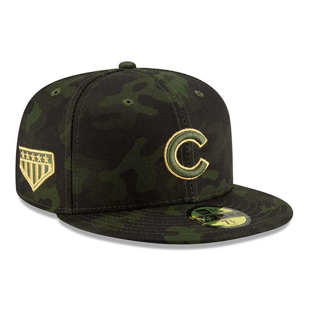 f308155e431e21 Chicago Cubs Armed Forces Day On Field 59FIFTY