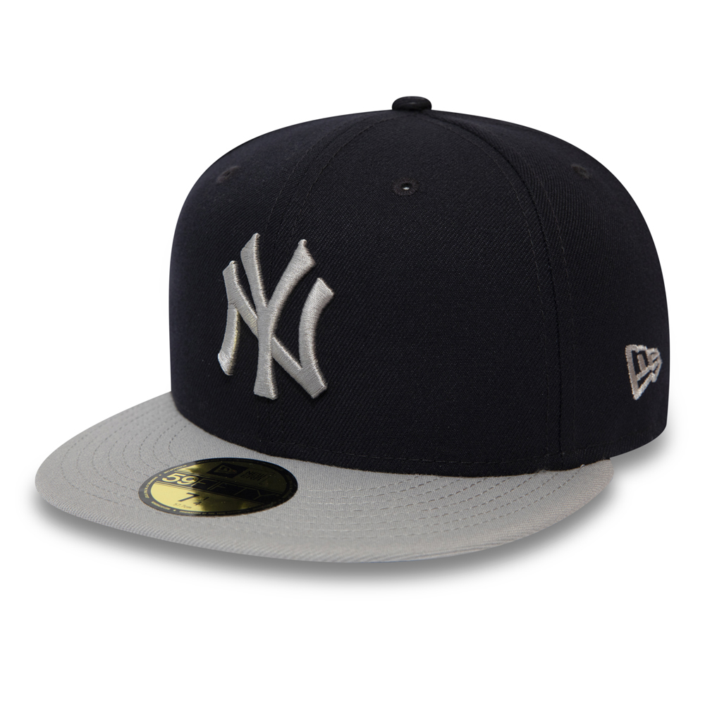 2f9222012b80f New York Yankees Official Team Colour Block Black 59FIFTY
