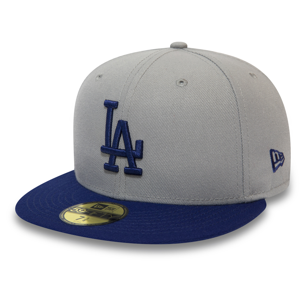 Los Angeles Dodgers Official Team Colour Block 59FIFTY, gris