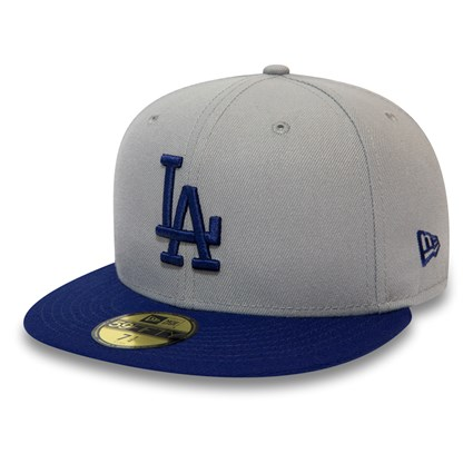 4e2d0b4a99845b Los Angeles Dodgers Official Team Colour Block Grey 59FIFTY | New Era