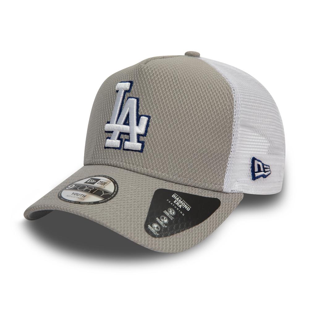 208faa8be3ca5 Los Angeles Dodgers Diamond Era Kids Grey A Frame Trucker
