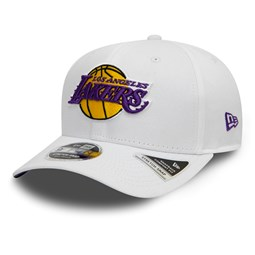 c127e3da0287a Los Angeles Lakers Stretch Snap Official Team Colour White 9FIFTY