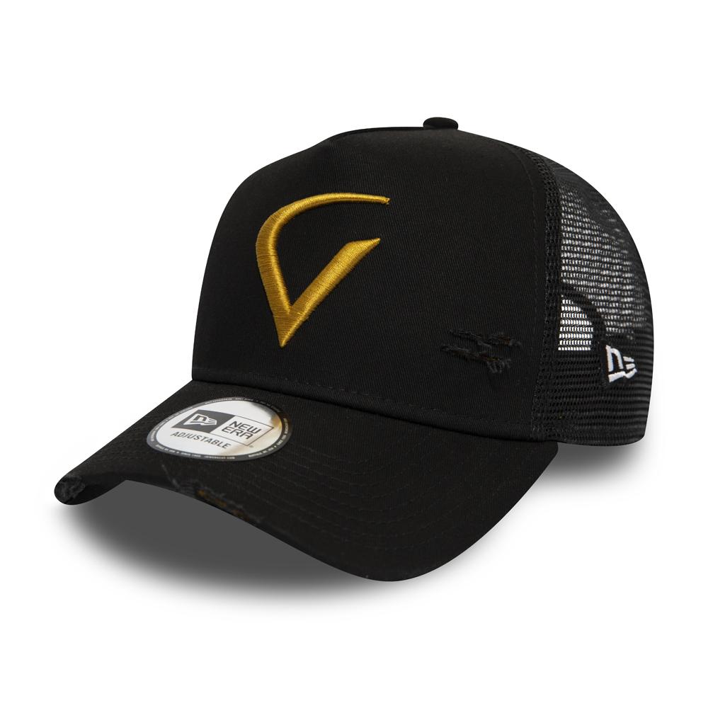 Virat Kohli V Logo 9FORTY Snapback, negro