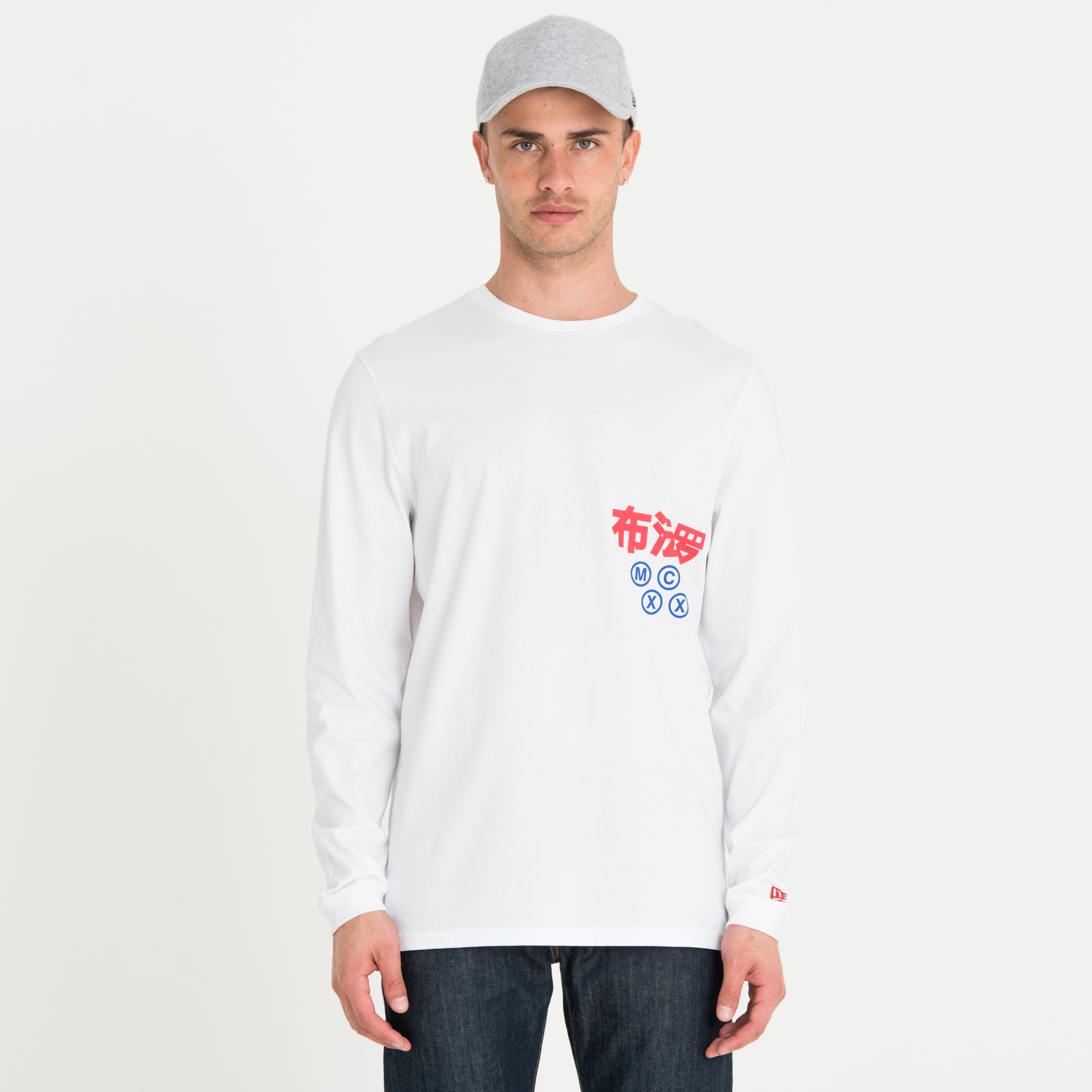T-shirt New Era Graphic Wordmark blanc