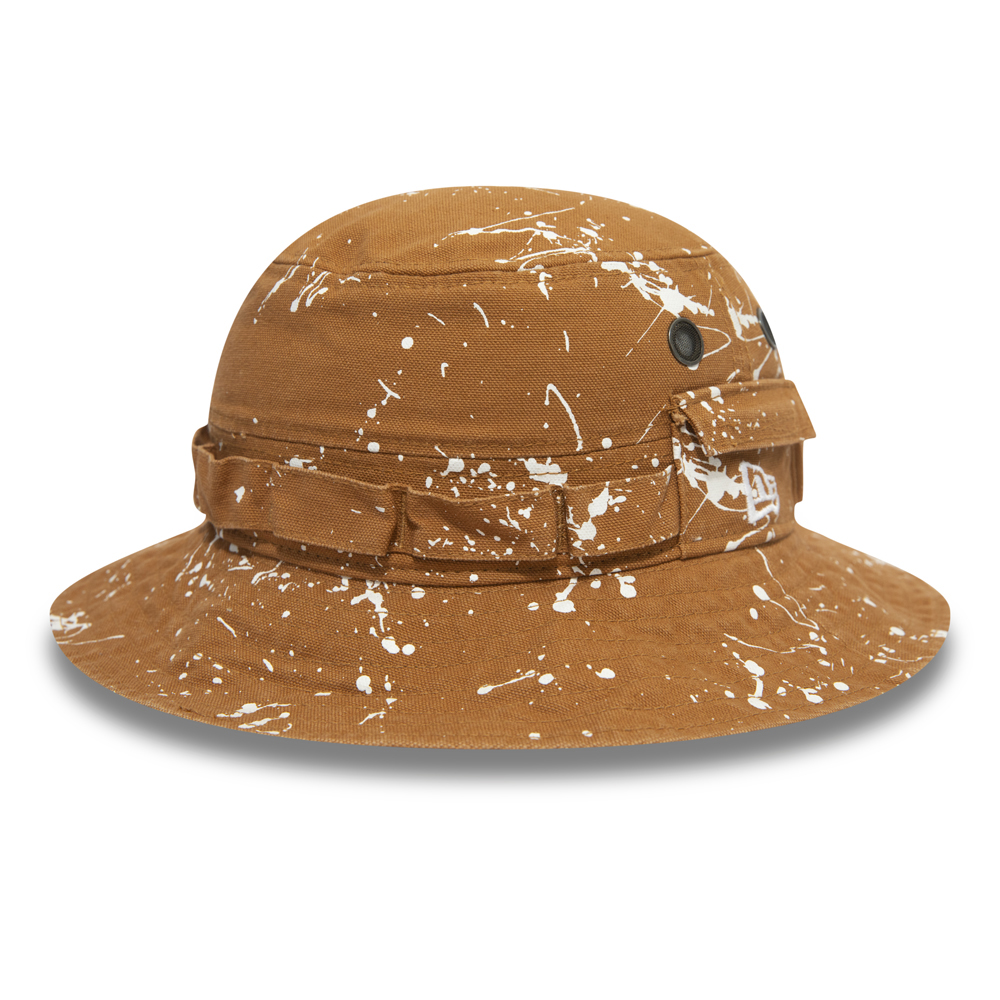 the best attitude ac6f3 66a3f Splash Paint Adventure Washed Ducked Tan Bucket Hat