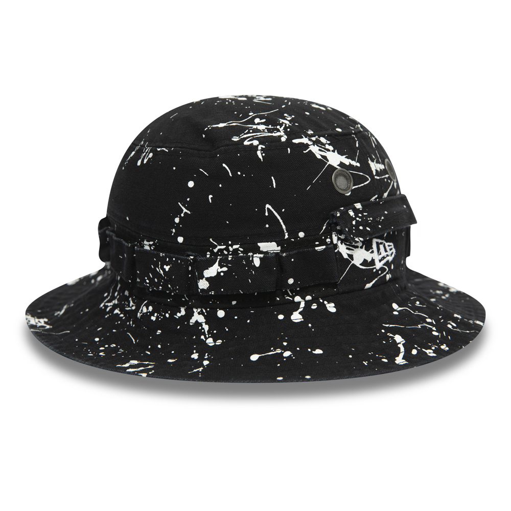 check out f4473 31dc4 Splash Paint Adventure Washed Ducked Black Bucket Hat