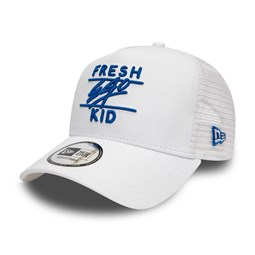 Gorra trucker Fresh Ego Kid, blanco