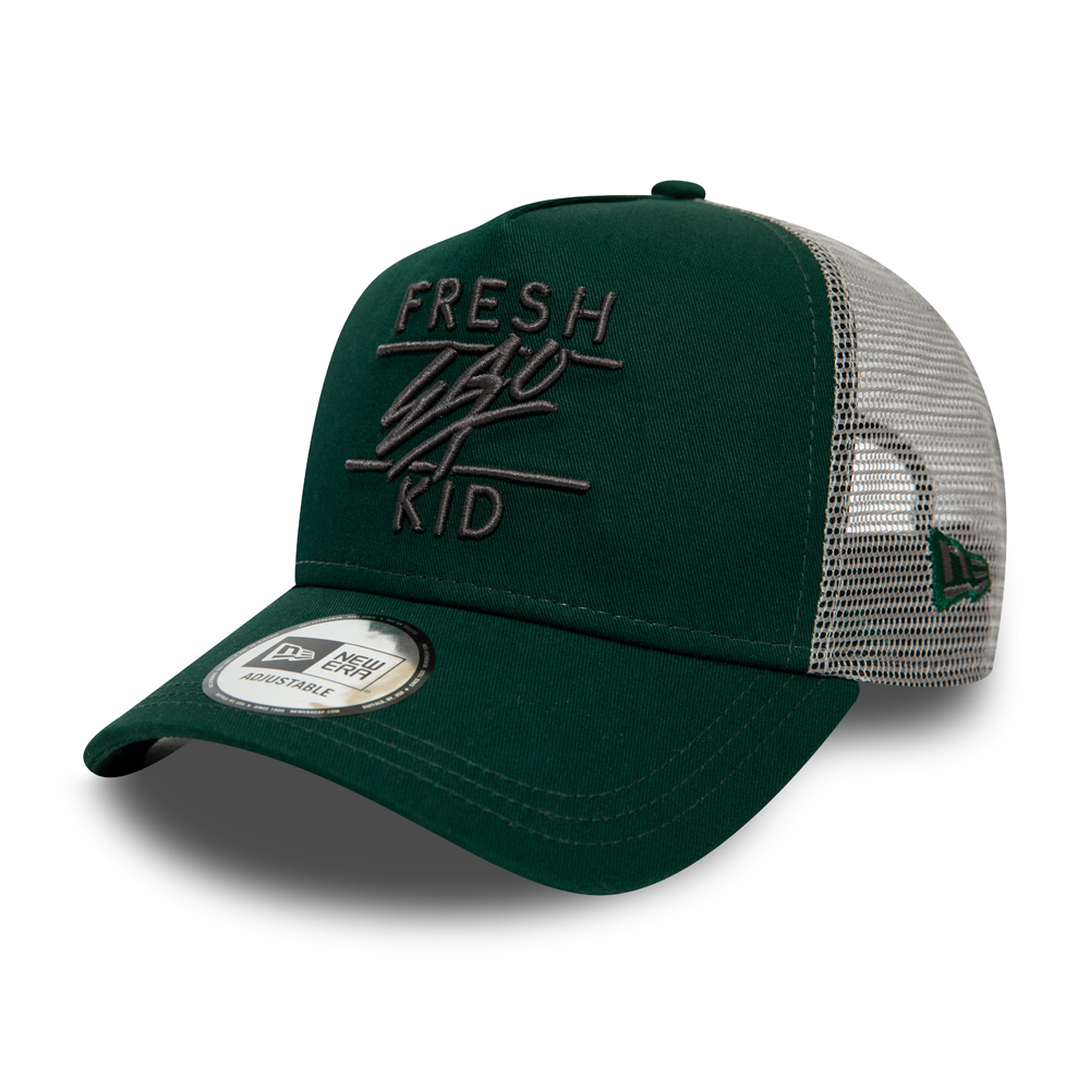 Gorra trucker Fresh Ego Kid, verde