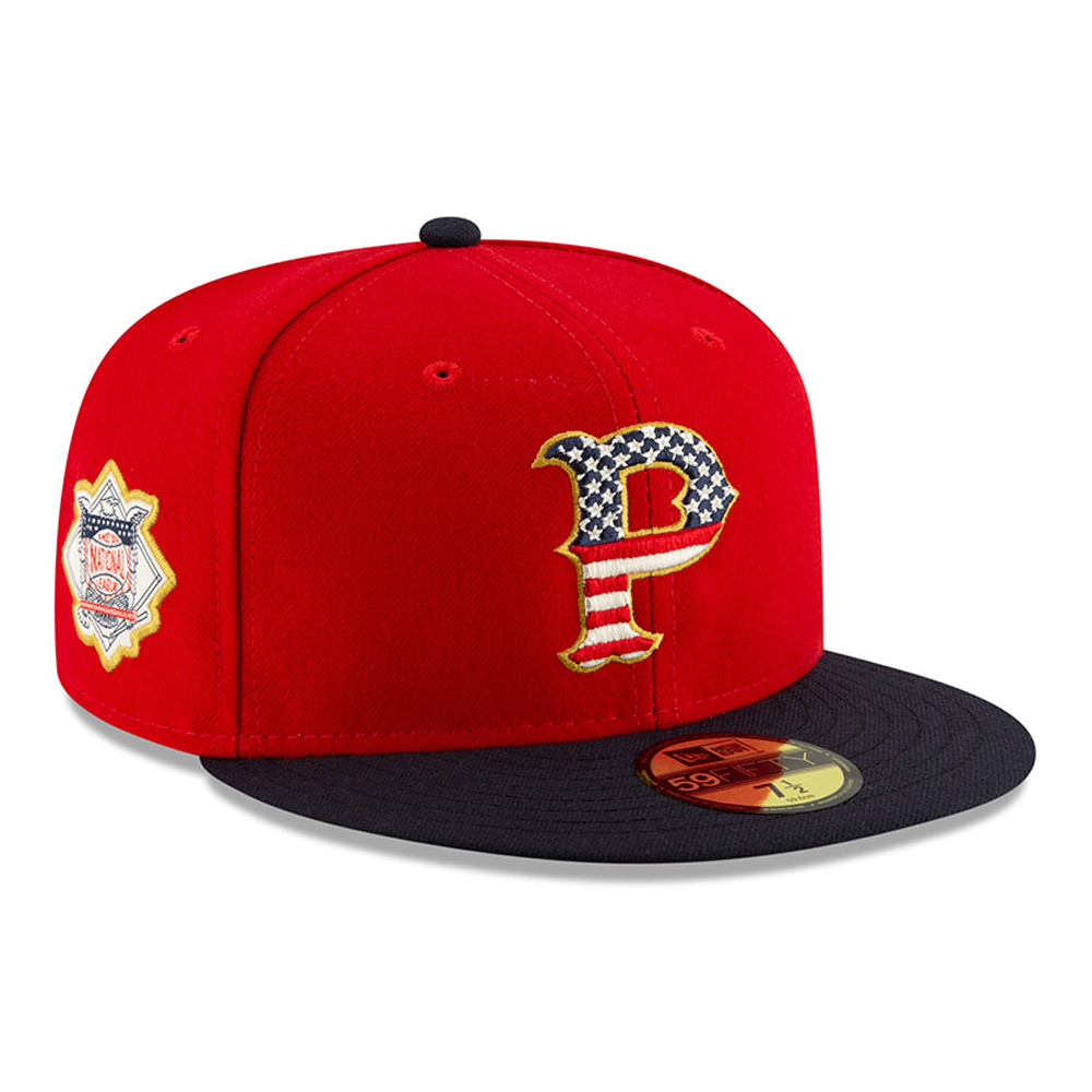 Pittsburgh Pirates Independence Day 59FIFTY, rojo