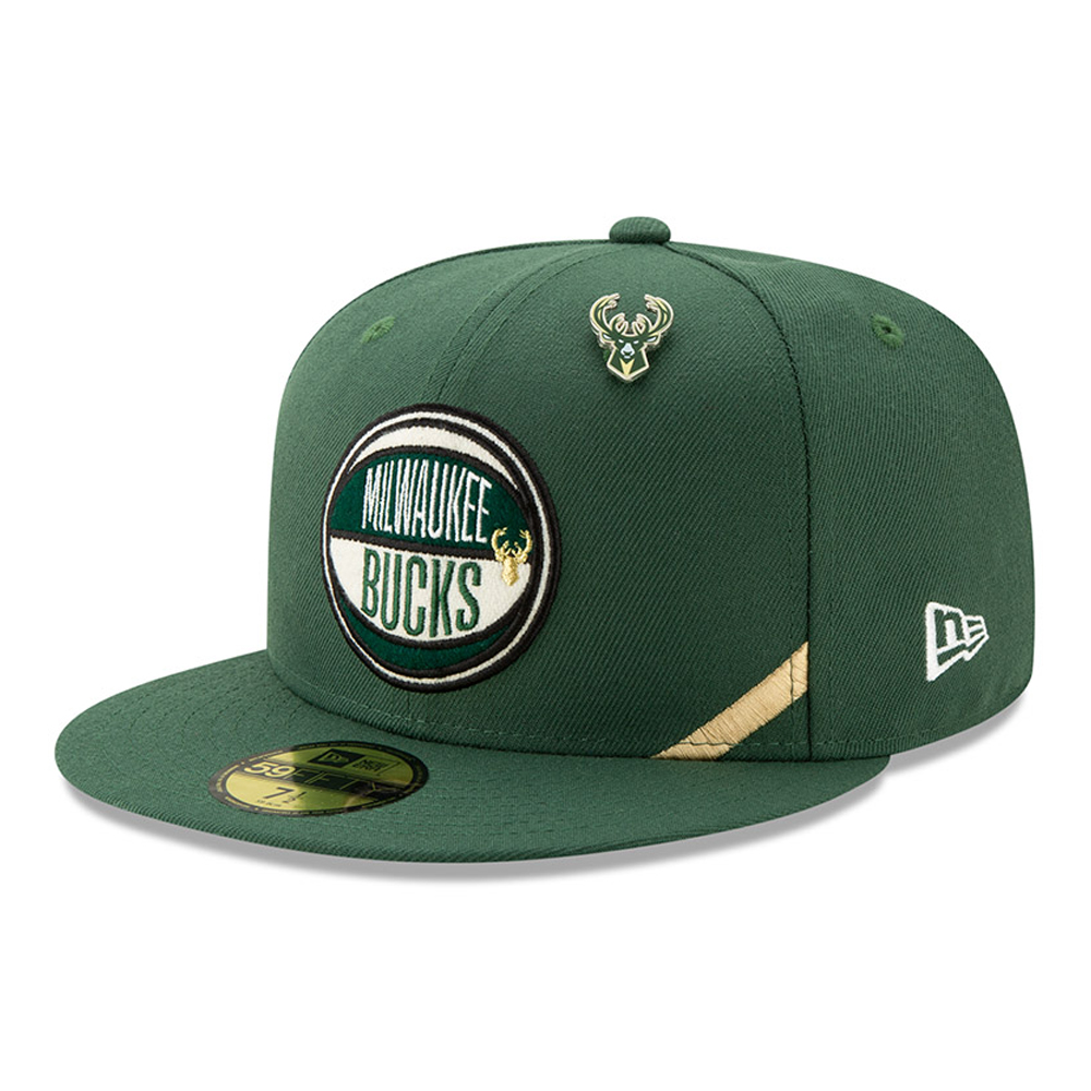 quality design ca485 0c352 New. Milwaukee Bucks 2019 NBA Draft 59FIFTY