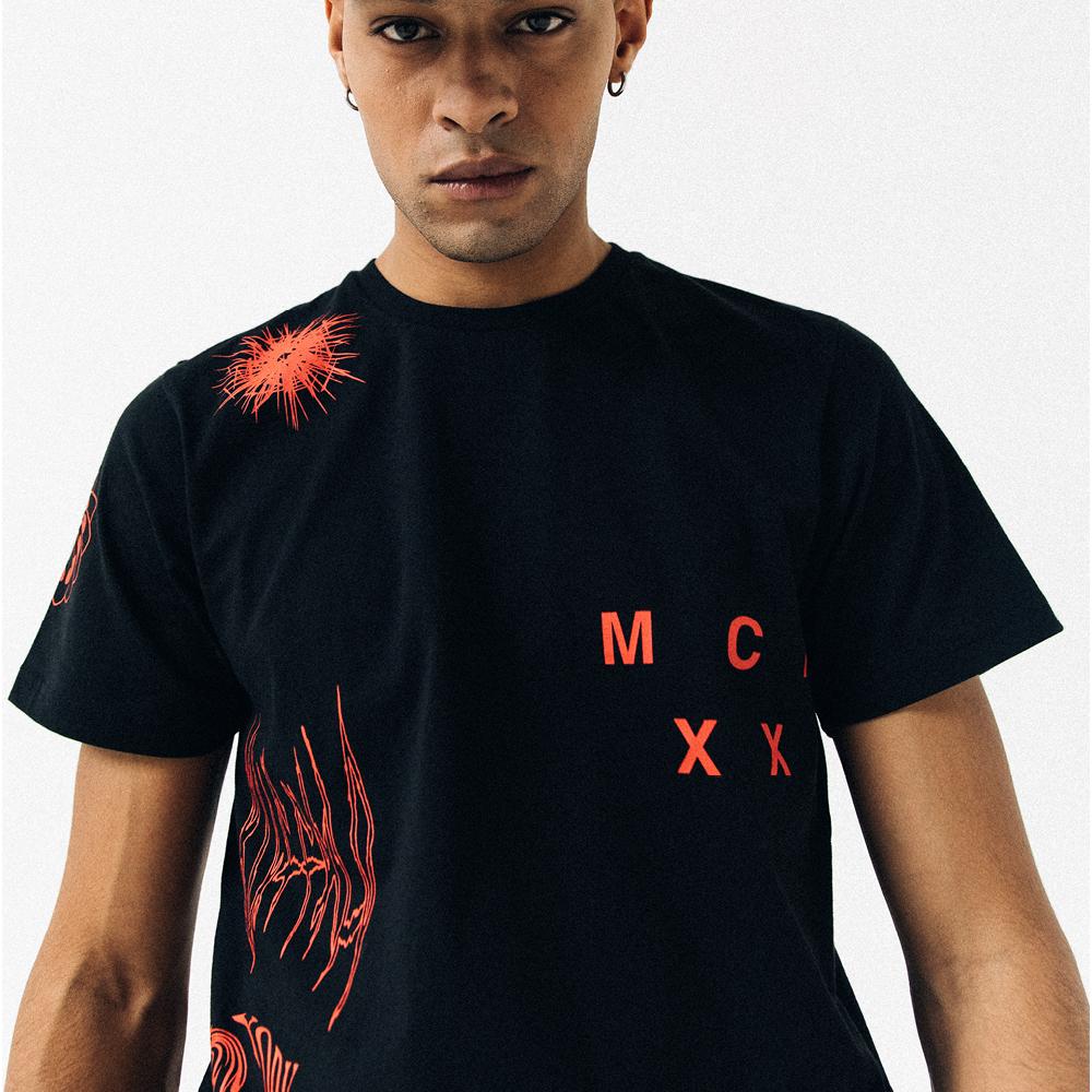 T-shirt New Era Bootleg Graphics nera