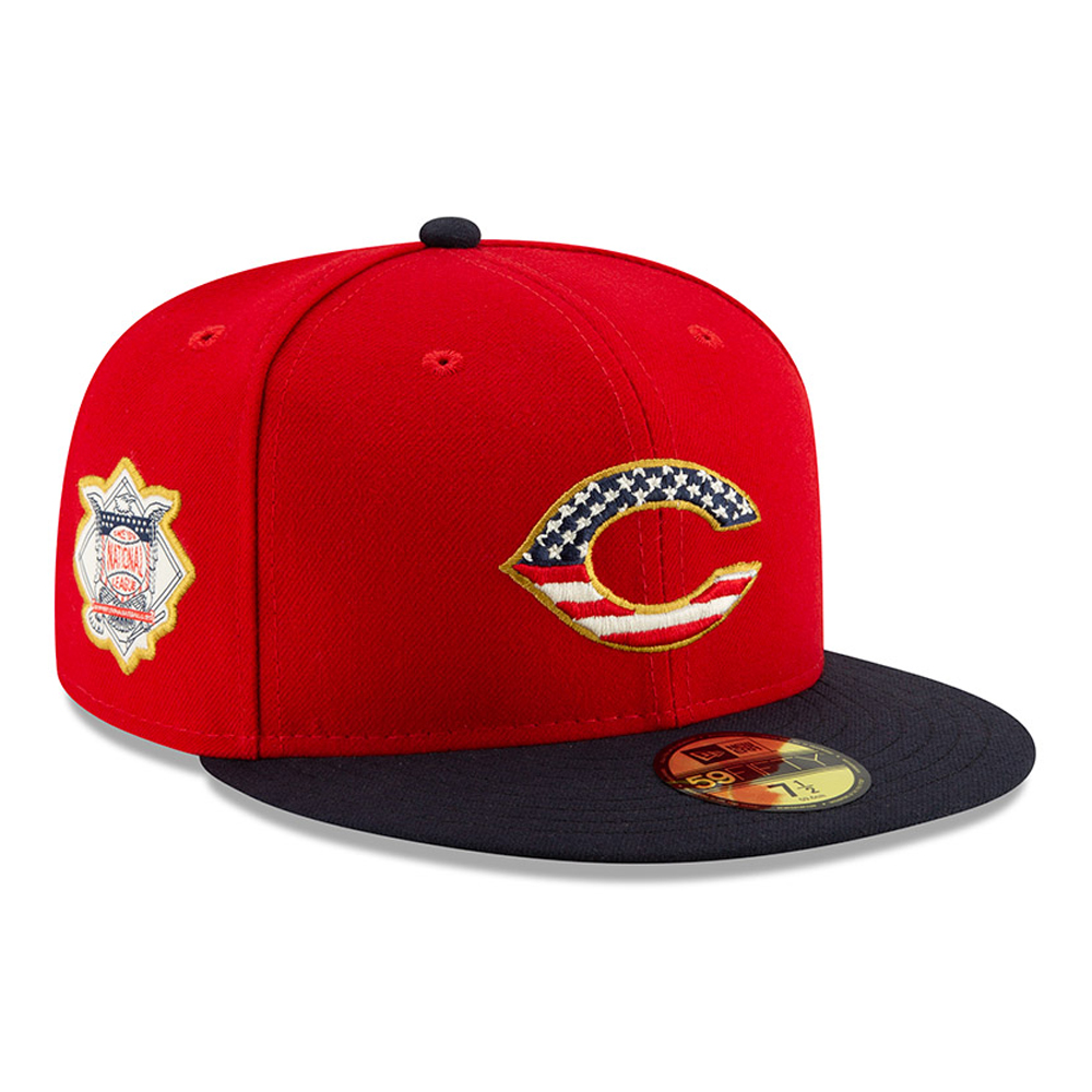 online retailer dc461 d2232 Cincinnati Reds Independence Day 59FIFTY