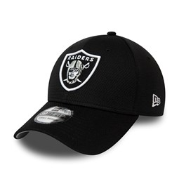 Oakland Raiders Black Mesh 39THIRTY Cap