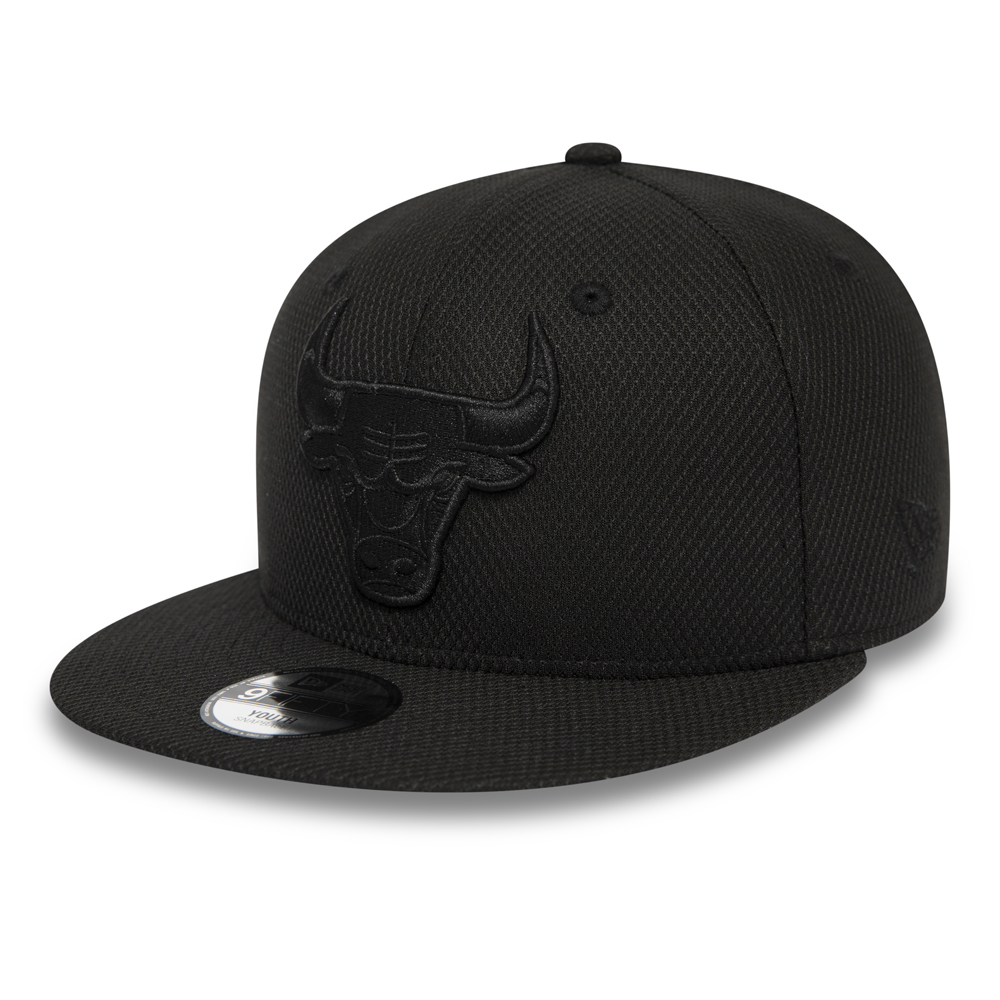 Gorra snapback Chicago Bulls Black on Black 9FIFTY para niños
