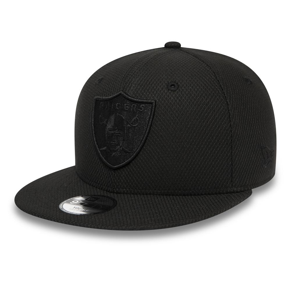 Black on Black 9FIFTY Kappe mit Clipverschluss der Oakland Raiders für Kinder