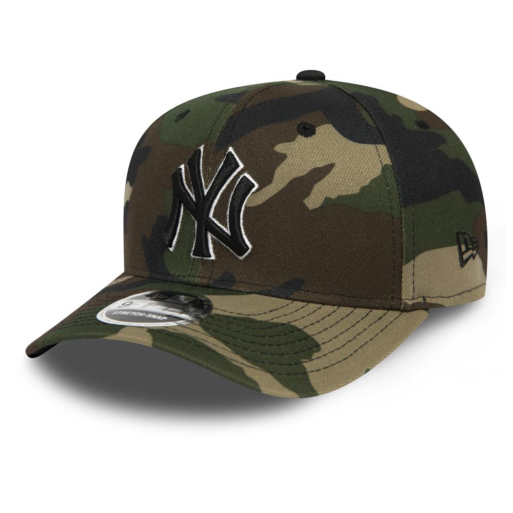 9FIFTY-Kappe der New York Yankees mit Clipverschluss in Schwarz mit Camouflage-Muster