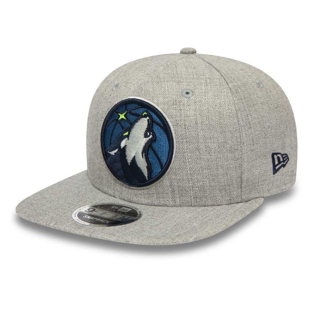 Cappellino con chiusura posteriore 9FIFTY dei Minnesota Timberwolves grigio mélange