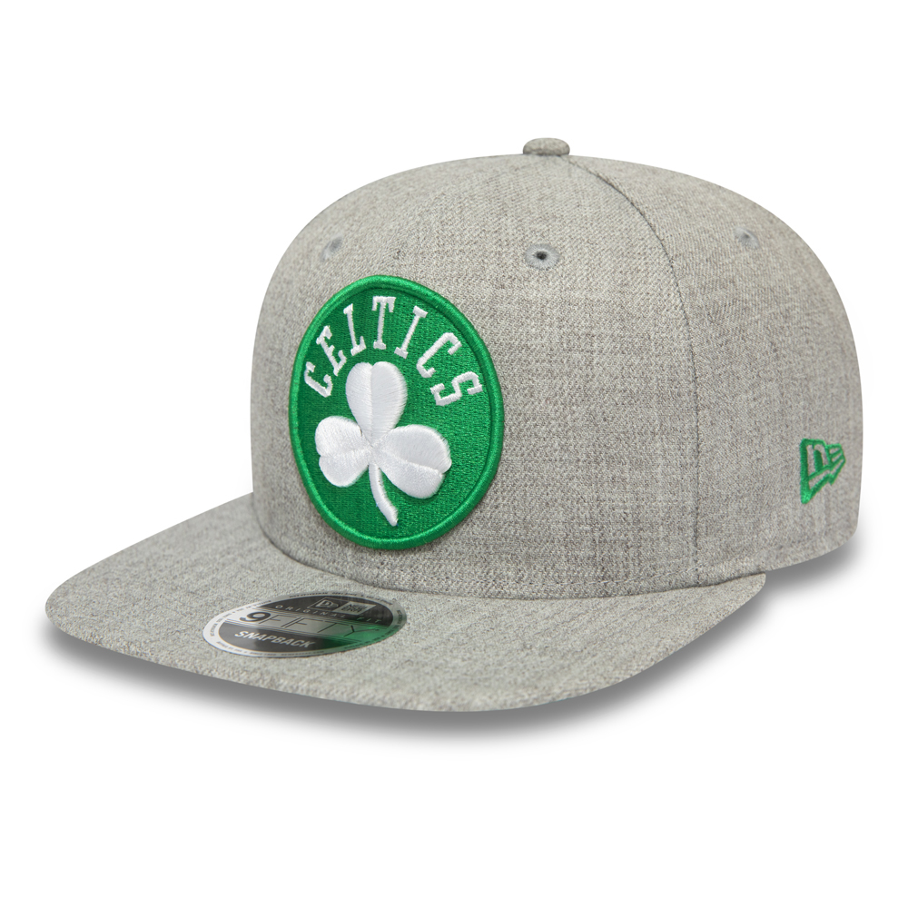 Grau melierte 9FIFTY Kappe mit Clipveschluss im Original Fit der Boston Celtics