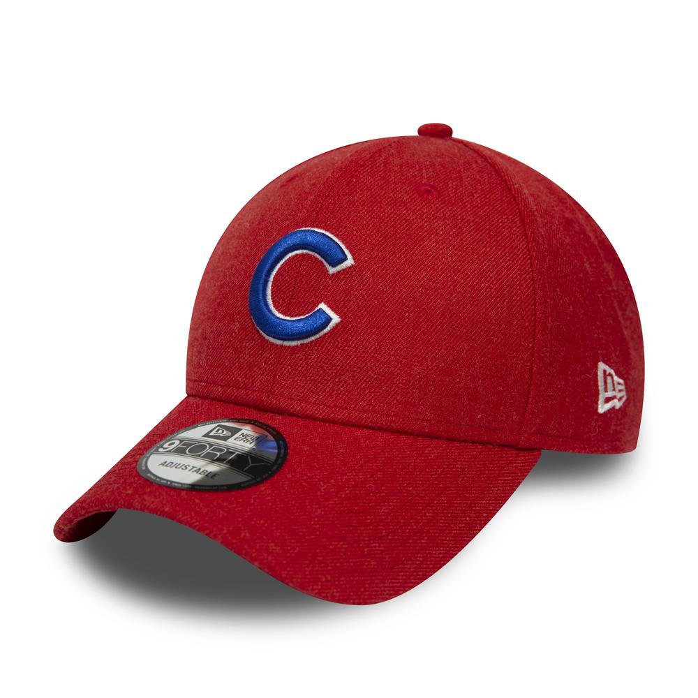 Cappellino con chiusura posteriore 9FORTY dei Chicago Cubs rosso mélange