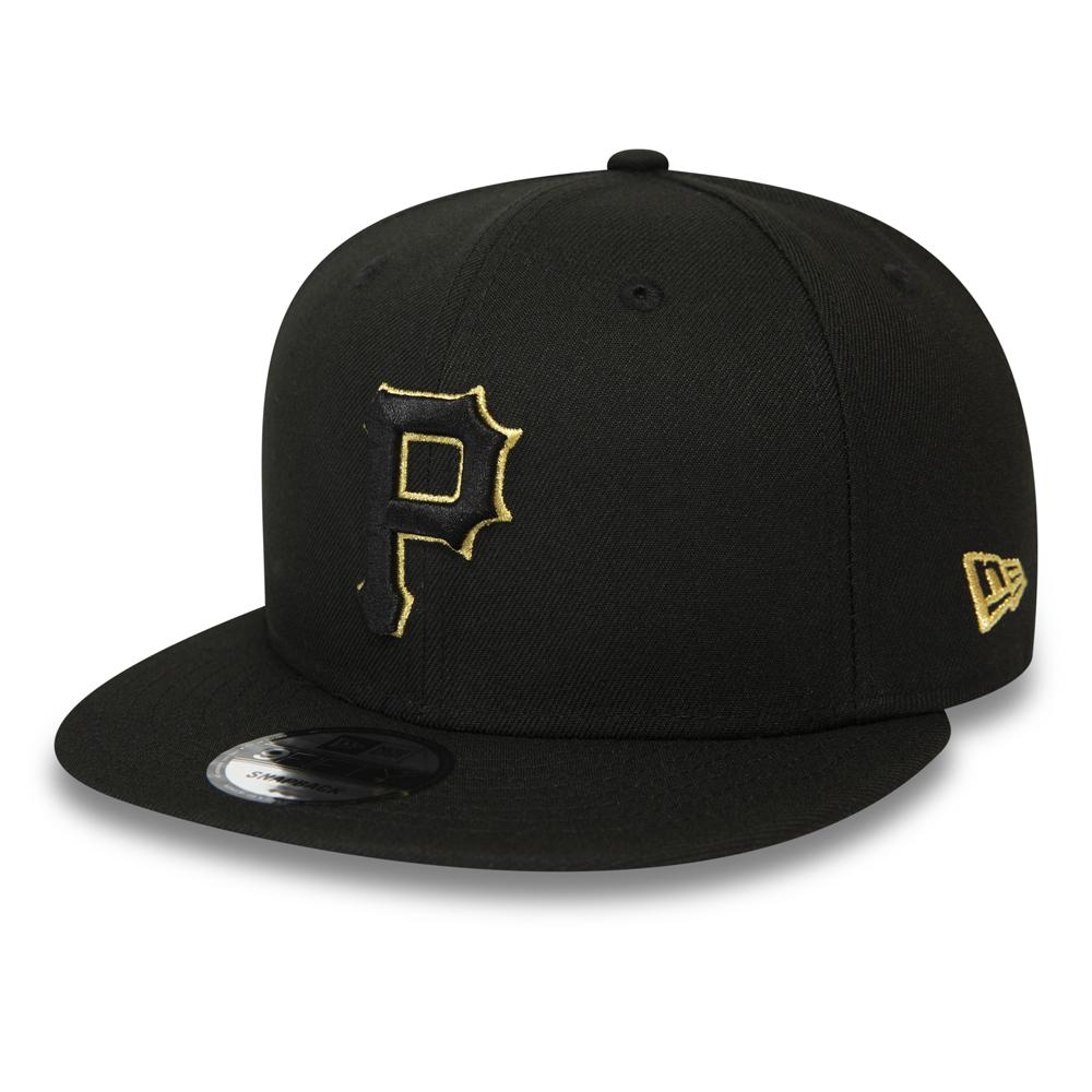 9FIFTY-Kappe mit Clipverschluss der Pittsburgh Pirates in Schwarz und Gold