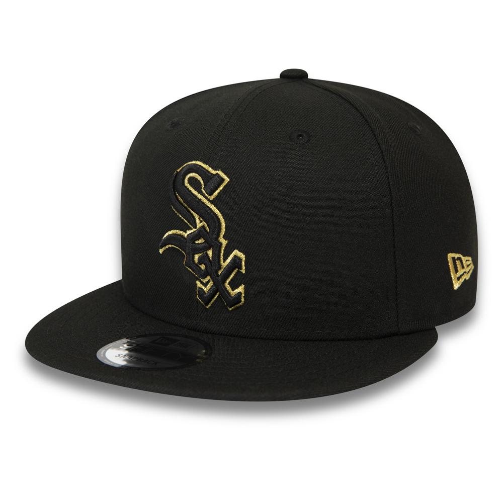 Cappellino con chiusura posteriore 9FIFTY dei Chicago White Sox nero e oro