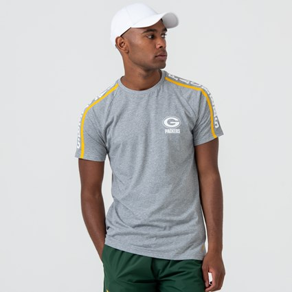 Green Bay Packers Shoulder Print Grey Tee