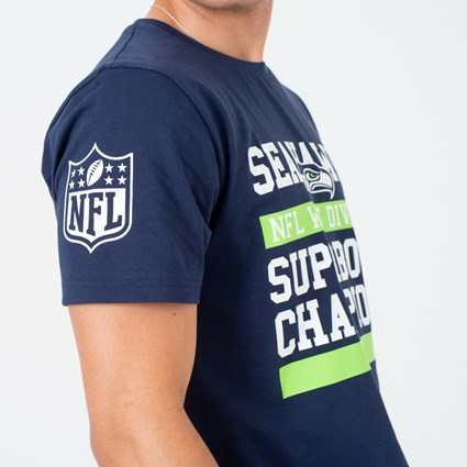 Seattle Seahawks Large Graphic Blue Tee