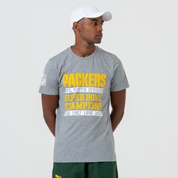 Green Bay Packers Large Graphic Grey Tee
