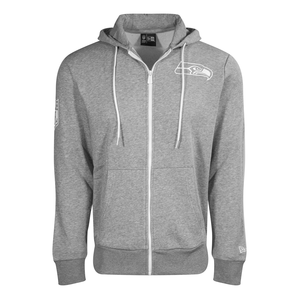 Seattle Seahawks Logo Grey Zip Hoodie