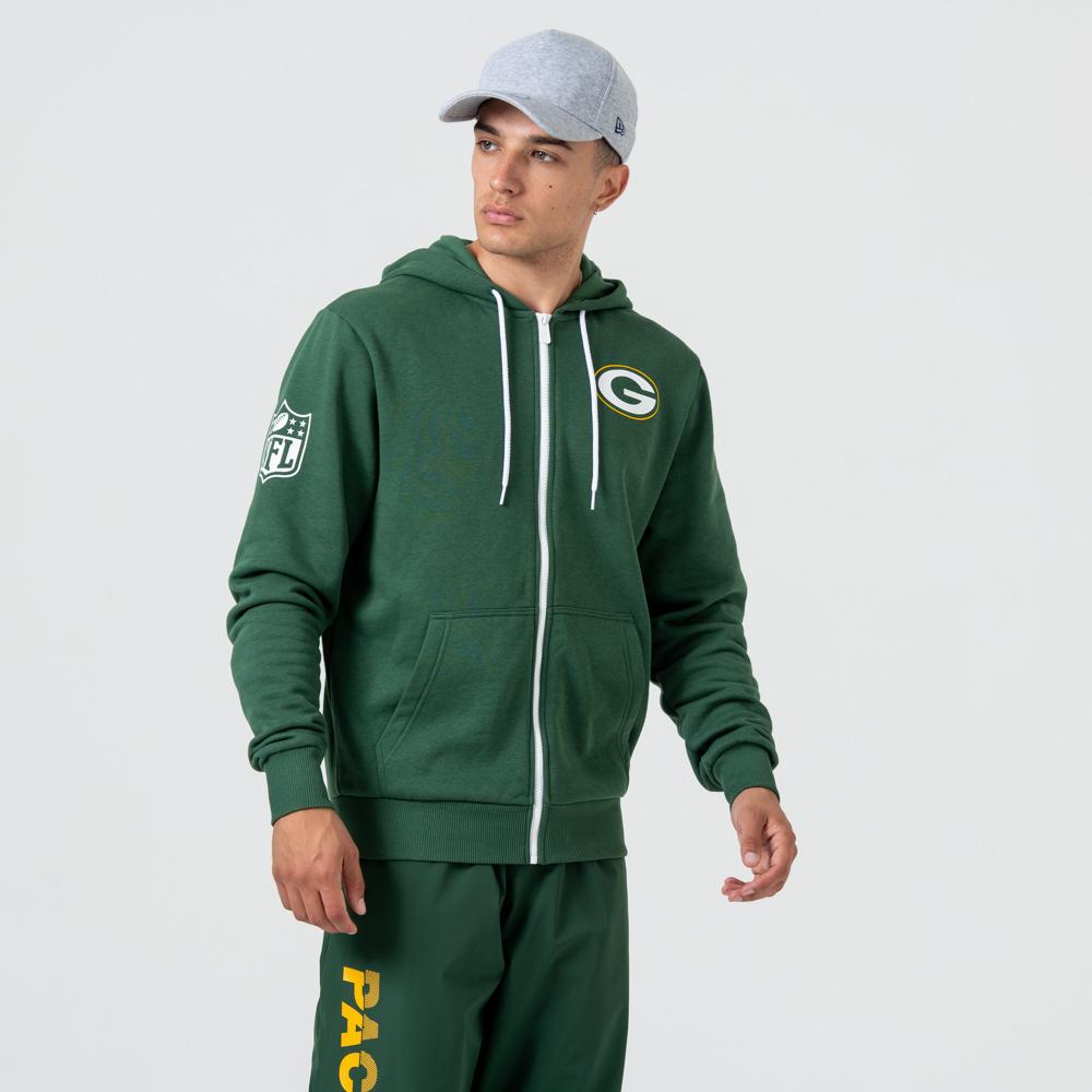 Green Bay Packers Logo – Hoodie mit Reißverschluss – Grün